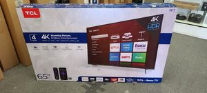"65"" TCL 4k UltraHD Smart HDR Roku LED Tv for Sale in Bonita, CA"