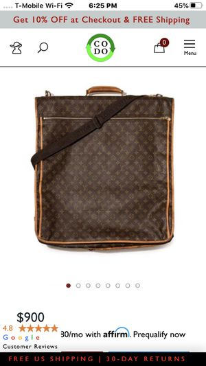 Louis Vuitton Garment bag great vintage condition for Sale in Oceanside, CA