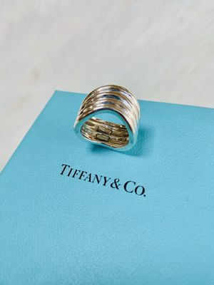 Vintage Tiffany & Co. Quadruple Layered Wave Band Ring for Sale in Orland Park, IL