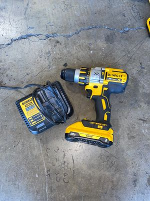 Dewalt 20V cordless XR 3-speed hammer drill with 3.0ah battery and charger for Sale in Garden Grove, CA