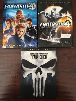 DVD Movies Fantastic 4, Fantastic 4 Rise of the Silver Surfer, The Punisher for Sale in Cypress, CA