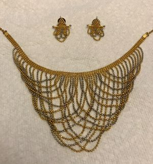 Indian beaded 18K multi tone choker necklace for Sale in Charles Town, WV