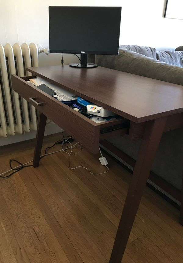 Wood Desk with Drawer