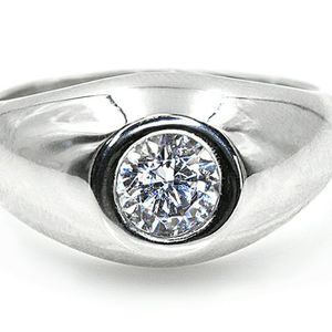 3232WG MENS DIAMOND SOLITAIRE WEDDING RING BAND 0.75CT 14K GOLD for Sale in San Diego, CA