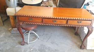 Antique desk wood hand made /escritorio antiguo echo a mano pura madera $150 for Sale in Las Vegas, NV