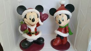 Collectible Mickey & Minnie Santa Statue Figure Set for Sale in Westampton, NJ