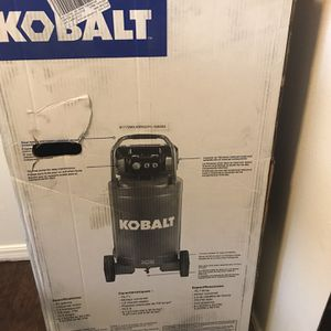 Kobalt QUIET TECH 26-Gallon Single Stage Portable Electric Vertical Air Compressor for Sale in Oklahoma City, OK