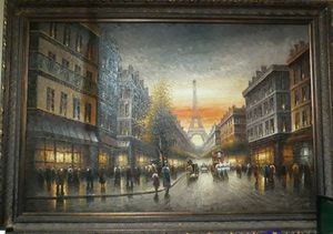 Nice picture of Paris on canvas for Sale in Fresno, CA