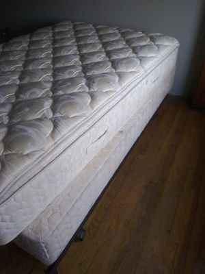 Twin size bed $50 only slept in one time for Sale in Kansas City, KS