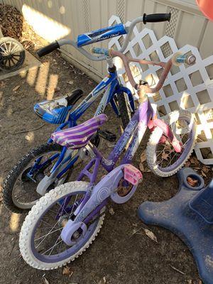 1 girl bike and 1 boy bike for Sale in O'Fallon, MO
