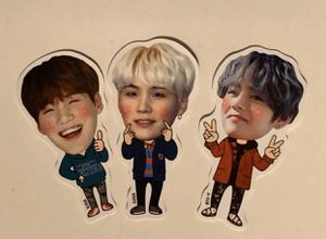 BTS SUGA & V / yoongi tae stickers merch kpop for Sale in Aspen Hill, MD