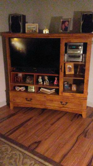 Real wood TV entertainment center for Sale in Riverside, CA