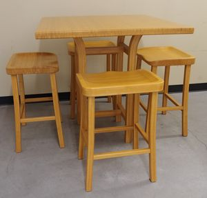 Bamboo Tulip Counter Dining Table & Chairs for Sale in Seattle, WA