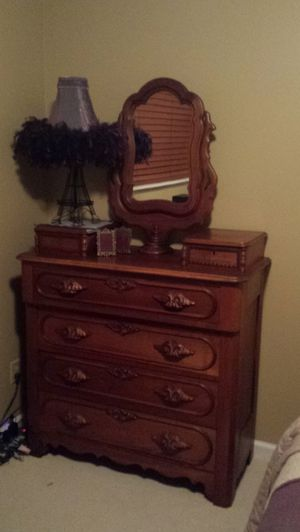 Antique Rococo Dresser and Bed Frame for Sale in Wenatchee, WA