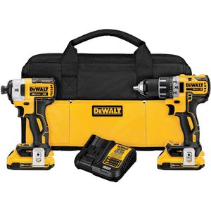 DEWALT 20-Volt MAX XR Lithium-Ion Cordless Brushless Drill/Impact Combo Kit (2-Tool) with (2) Batteries 2Ah, Charger and Bag for Sale in Dumfries, VA