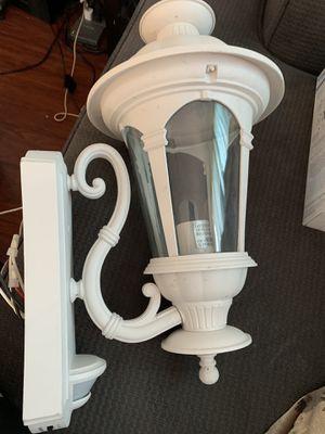 Hampton Bay Alexandria 180° White Motion-Sensing Outdoor Decorative Wall Lantern for Sale in Lakewood, CA