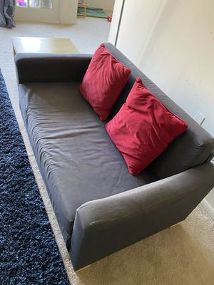 Moving sale: ikea two seater couch with side table for Sale in McLean, VA