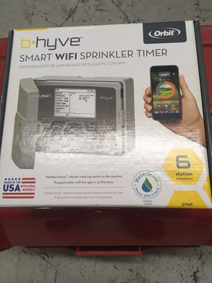 Bhyve by Orbit a smart WiFi 6 zone sprinkler timer can download the app for hands free Brand new in box for Sale in West Palm Beach, FL
