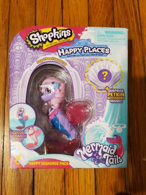 Shopkins Happy Places Mermaid Tales Pearl Seahorse for Sale in Pasadena, TX