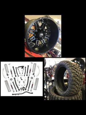 "New 20x14 XF Off-road Matte Black Rims Wheels 35"" Mud Tires 6"" Jeep Suspension Lift Wrangler for Sale in Tampa, FL"