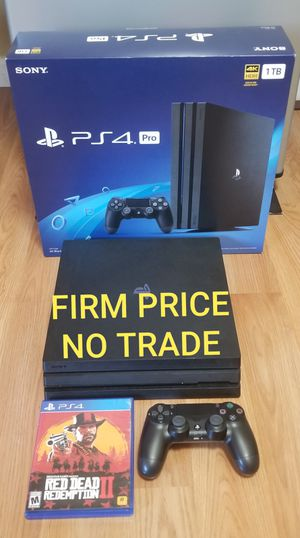 PS4 PRO 2019 MODEL+ RD2, NO OFFER, GREAT CONDITION, NO TRADE, READ DESCRIPTION FOR DETAILS for Sale in Garden Grove, CA