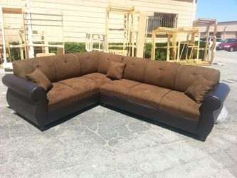 NEW 7X9FT CHOCOLATE MICROFIBER COMBO SECTIONAL COUCHES for Sale in Pomona,  CA