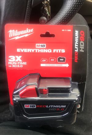 Milwaukee red lithium HD 9.0 battery for Sale in Central Point, OR