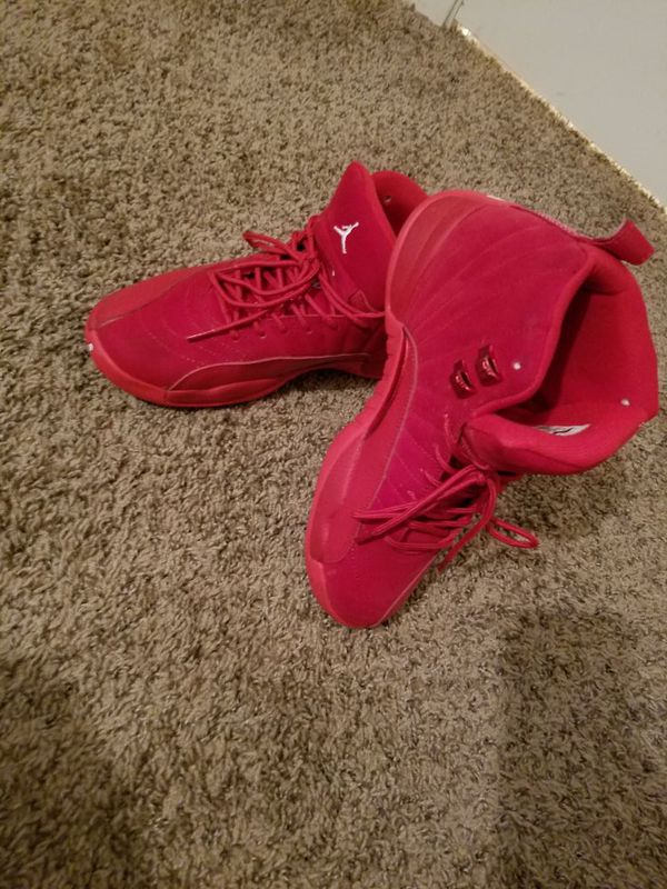 Jordan's all Red Suede 12s