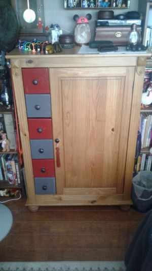 Pier one clothes cabinet for Sale in Belle Isle, FL
