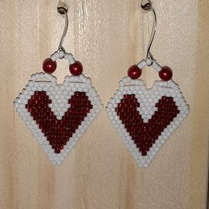 Red And White Valentine Earrings for Sale in Granite Falls, WA