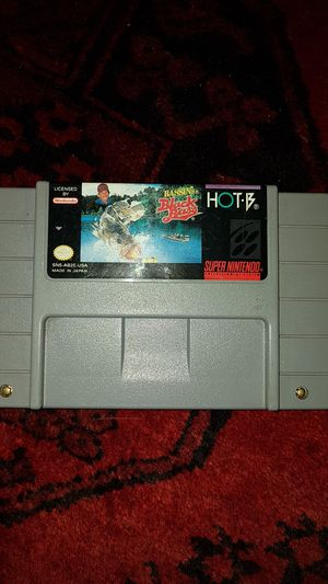 Nintendo Snes game Bassin's Black Bass Super Nintendo for Sale in Lake Elsinore, CA