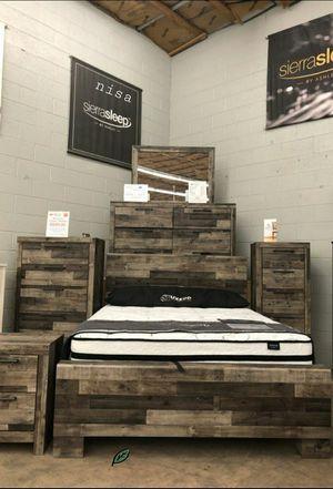 $39 DOWN❗BEST Deal 🛬 Derekson Gray Storage Platform Bedroom Set | B200 107 for Sale in Jessup, MD