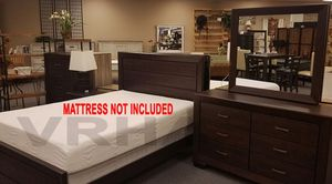 ANY SET TWIN,FULL OR QUEEN SET 4PC BED DRESSER MIRROR AND NIGHTSTAND/NO MATTRESS INCLUDED for Sale in Culver City, CA
