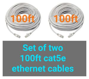 2X 100ft ethernet network cables for Sale in Chino Hills, CA