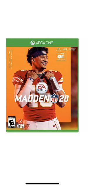 MADDEN NFL 20 XBOX ONE STANDARD GAME for Sale in Orlando, FL