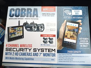 Cobra 4 channel wireless security system for Sale in Pinellas Park, FL