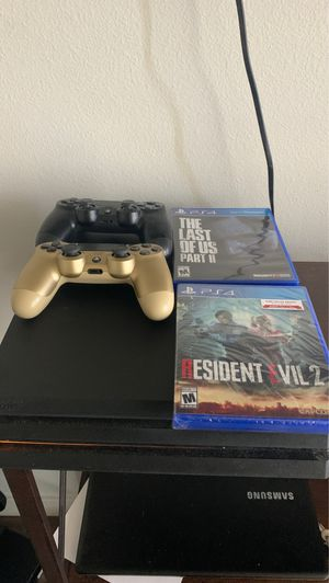 Playstation 4 Pro ( 2 controllers, 2 Games) for Sale in San Jose, CA