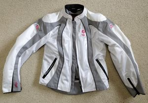 White Shift summer motorcycle female jacket for Sale in West Los Angeles, CA