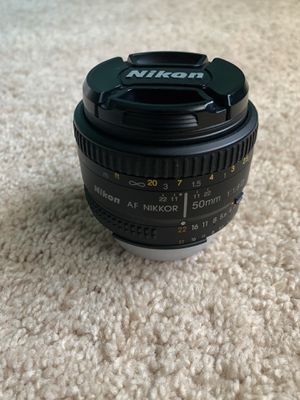Nikon 50mm f/1.8G AF-S NIKKOR Lens for Sale in Alpharetta, GA