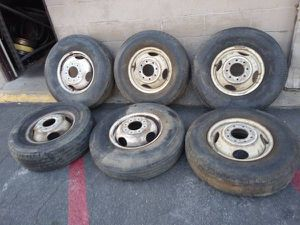 Six original chevy or gmc 16 inch steel dually wheels for Sale in Montebello, CA
