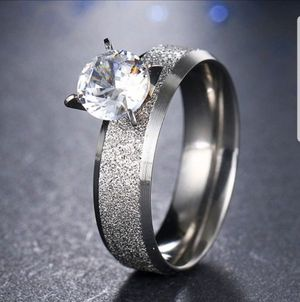 $8 brand new size 8 silver plated CZ ring for Sale in Manchester, MO