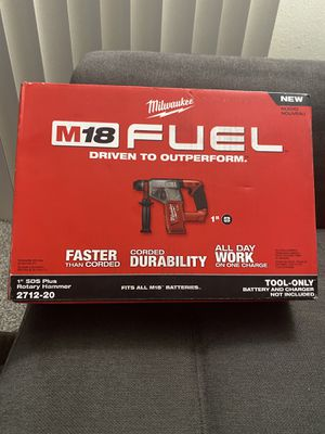 Milwaukee M18 FUEL Brushless 1 in. SDS-Plus Rotary Hammer (Tool-Only) New for Sale in San Diego, CA