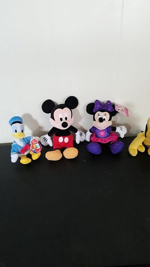 Disney stuffed characters for Sale in South Windsor, CT