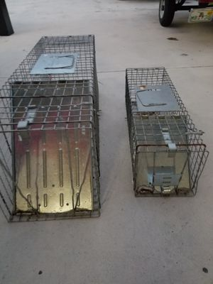 METAL ANIMAL TRAPS BOTH FOR $35 for Sale in Cape Coral, FL