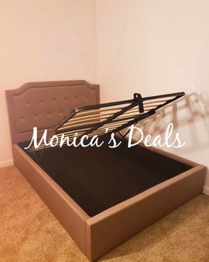 Queen storage bed frame $300 for Sale in Carson, CA