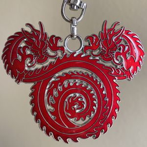"""3"""" Disney Mickey Red Chinese Dragon Swivel Pin Badge for Sale in Fullerton, CA"""