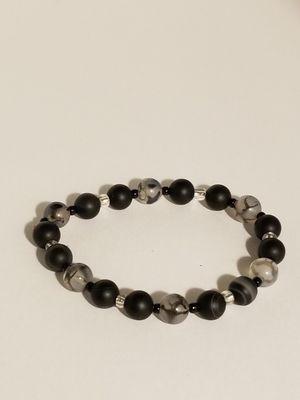 Black jasper/ agate bracelet for Sale in Merrillville, IN