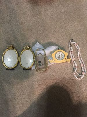 Antique clock and frame for Sale in Austin, TX