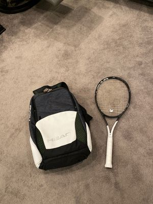 Head Graphite Speed Pro Tennis Raquet with backpack for Sale in Virginia Beach, VA