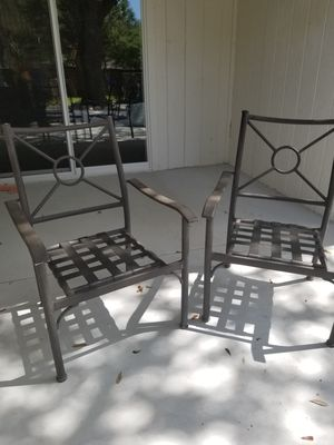Patio furniture Metal chairs set for Sale in Richardson, TX